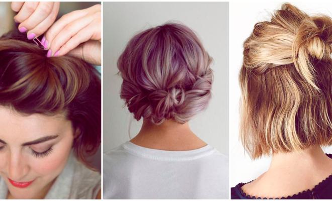 Cómo hacerte un  peinado lindo si tienes la melena corta