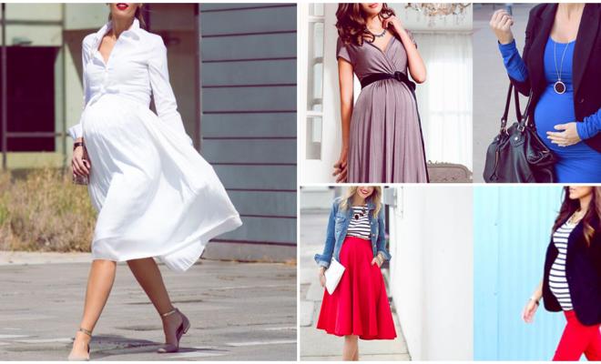 Los outfits más elegantes para embarazadas