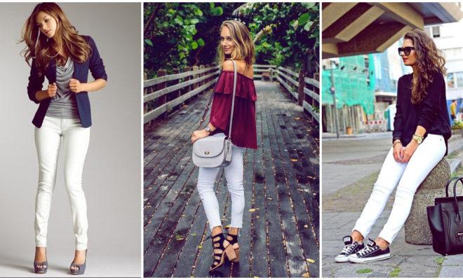 Cómo combinar tus jeans blancos en un look más formal