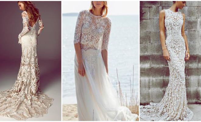 Los vestidos de novia más románticos: boho-chic