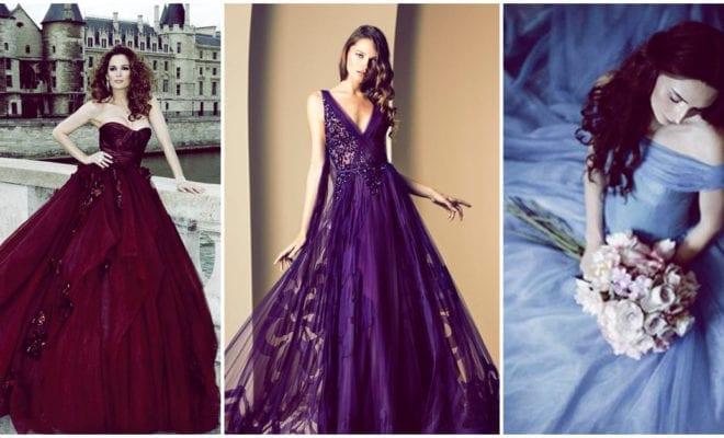 Vestidos de novia de colores estridentes: ¿te atreves?
