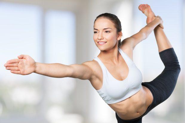 Yoga. Expert yoga pose