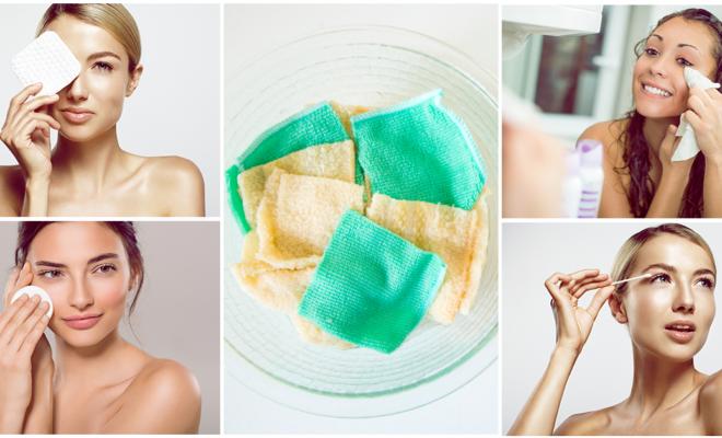 Ahorra dinero haciendo tus propias toallitas faciales limpiadoras; ¡además son reutilizables!