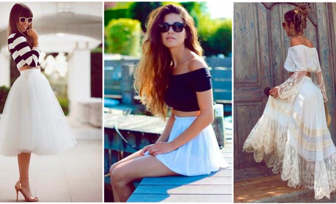 Las mejores combinaciones con faldas blancas