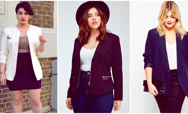 Los blazers más elegantes para chicas curvy