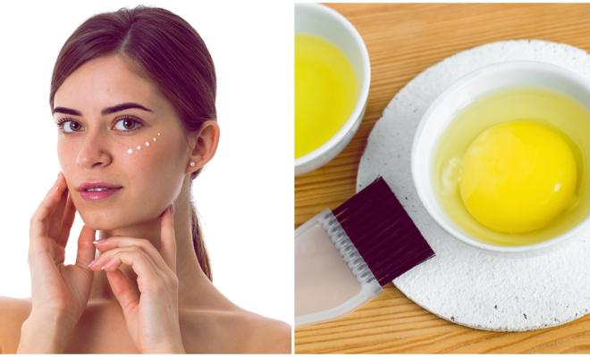 DIY mascarilla de huevo para disimular las arrugas