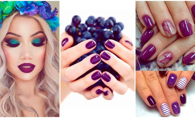 Los mejores diseños de uñas de color morado