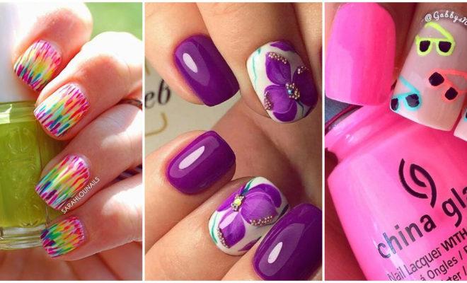 Las uñas más lindas de colores muy vivos