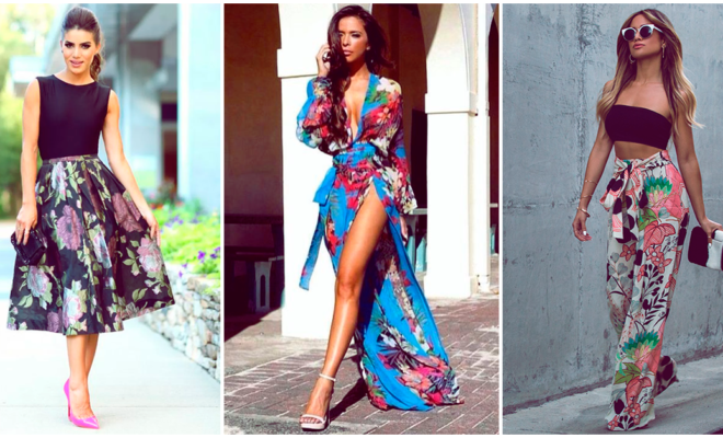 10 conjuntos espectaculares con estampado floral, ¡te verás super fashion!