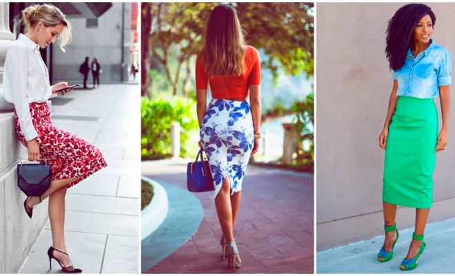 ¡7 combinaciones coloridas para usar una falda tubo y lucir super sexy!