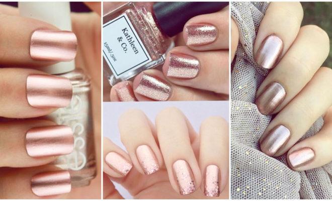 Los mejores diseños de uñas en rose gold