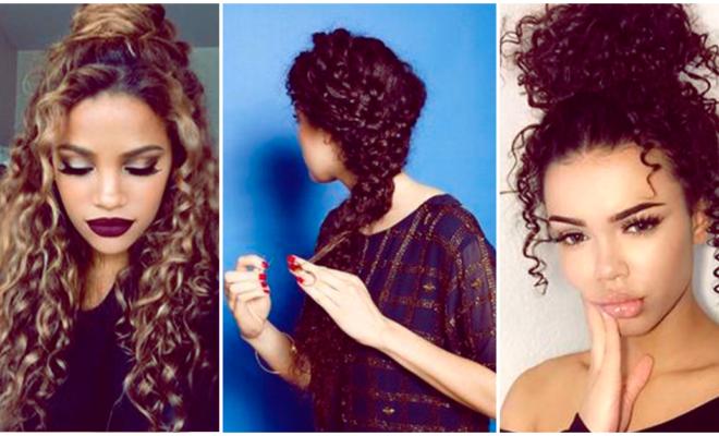 Peinados lindos y fáciles para chicas con rizos