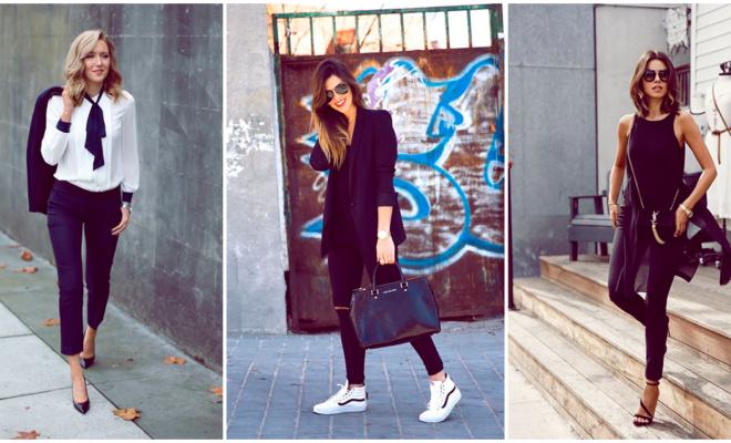 4 maneras de combinar tu pantalón negro