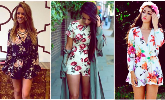 ¡Prueba estos 10 looks con rompers florales para verte espectacular en época de calor!