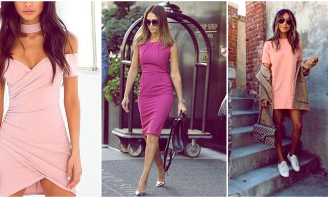 Cómo llevar un vestido rosa para lucir super sexy