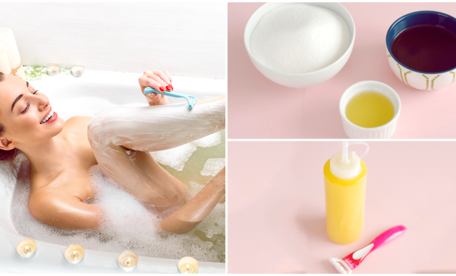 Exfóliate antes de afeitarte para conseguir piernas mucho más suaves