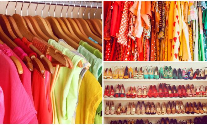 Acomodar tu ropa por color puede ayudarte a vestirte más rápido