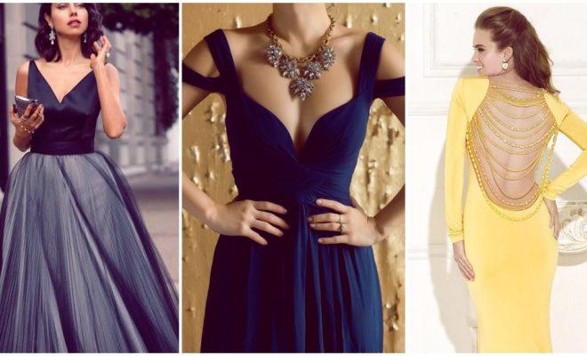 3 vestidos elegantes con escote para lucir sexy sin problemas