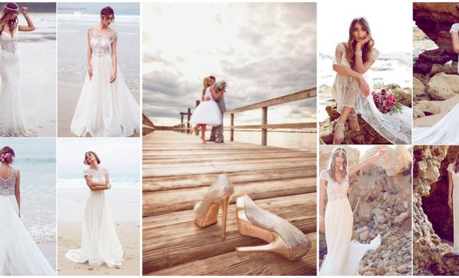 Vestidos de novia ideales para la playa ¡que te fascinarán!