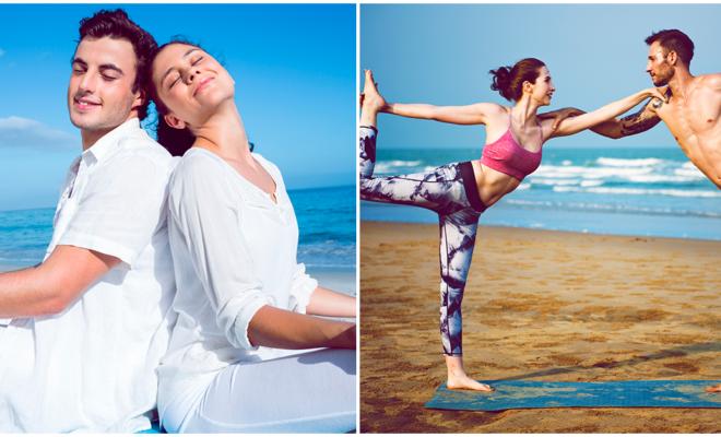 Yoga en pareja para principiantes, ¡aumenta la confianza en tu relación!