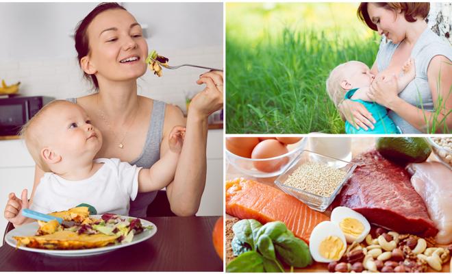 Dieta saludable para una mamá lactante