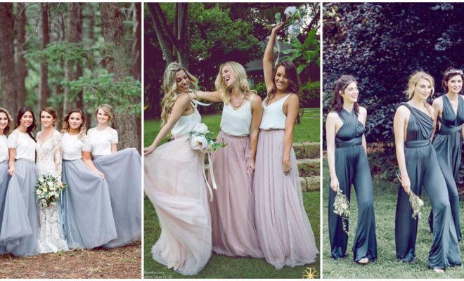 Vestidos de damas de honor en colores vintage