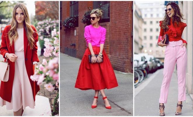 Looks hermosos en rosa y rojo, ¡amamos esta combinación!