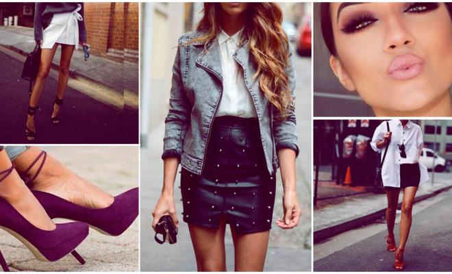 ¡Increíbles looks con minifalda para mamás sexys y elegantes!