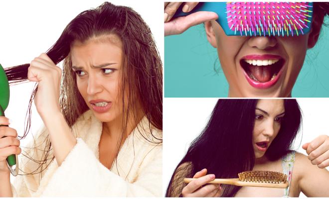 Cepillos que NO deberías usar para desenredar tu cabello