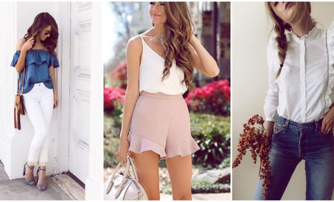 Hermosas combinaciones de prendas con holanes que vas a amar