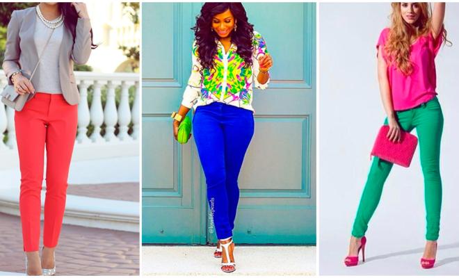 Aprende a lucir tus pantalones de colores como una reina