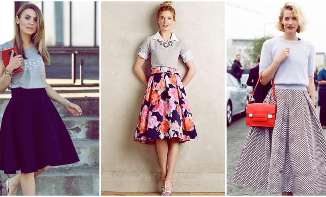 Colores básicos en tu falda midi para lograr un look espectacular