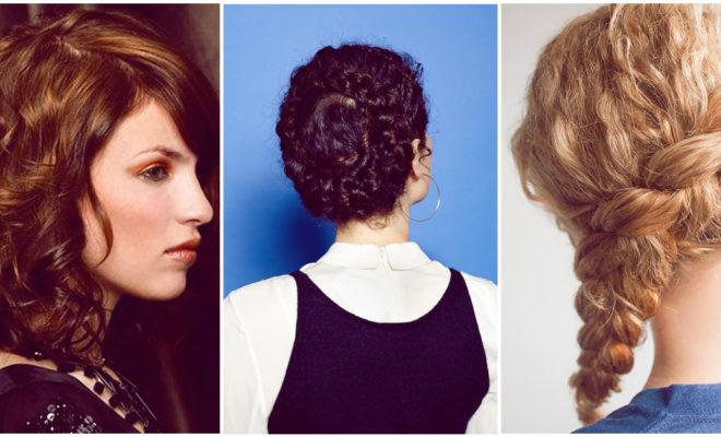 Peinados para chicas con cabello rizado y melena media