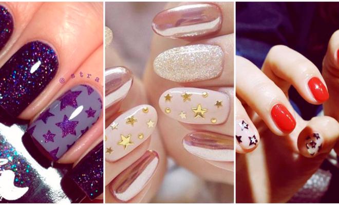 Manicura galáctica que amarás: star nails