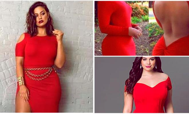 Vestidos rojos para chicas con muchas curvas