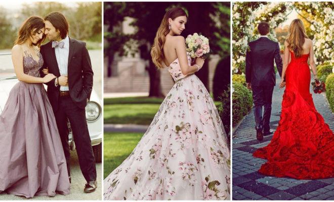 12 hermosos vestidos de novia ¡y ninguno es de color blanco!