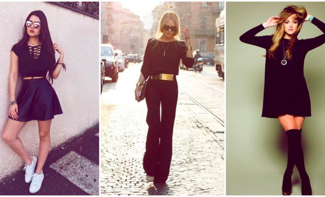 Los outfits total black que querrás usar siempre