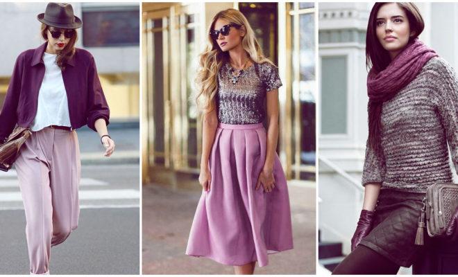 4 outfits para verte hermosa en color morado