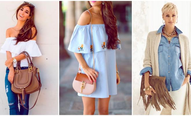 Crea un bonito outfit con una hermosa bolsa color café