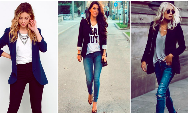 Looks con blazers de color oscuro que querrás imitar