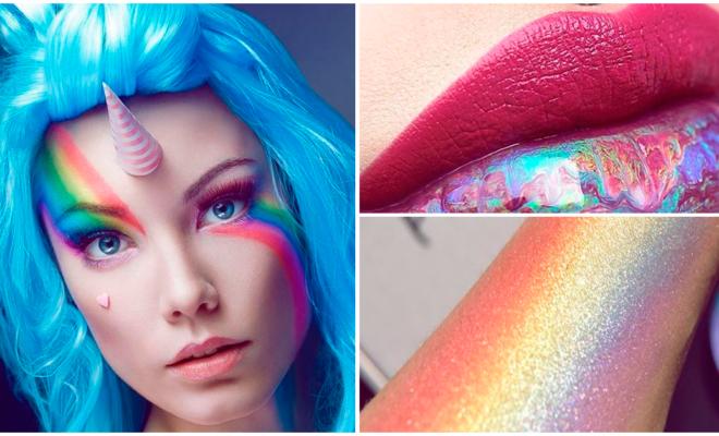Makeup arcoíris para las amantes de los unicornios