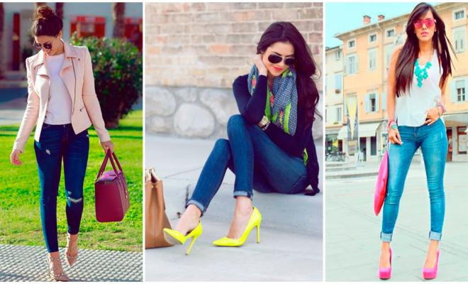 Combina tu outfit con zapatos de colores y ¡luce divertida!