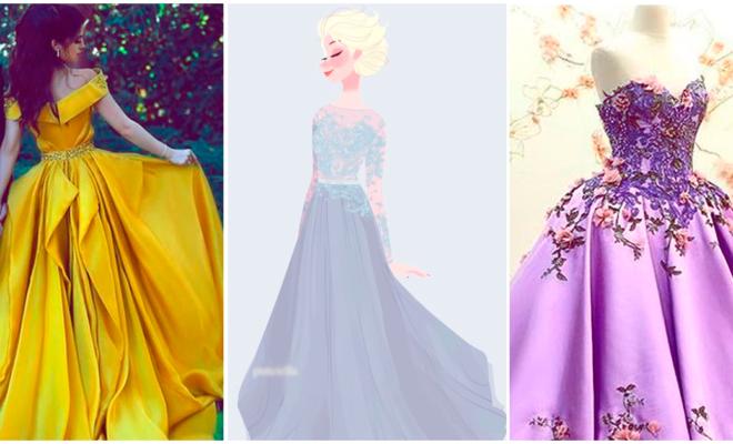Hermosos vestidos inspirados en las princesas de Disney