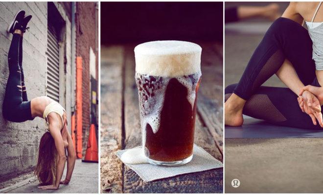 Los beneficios de hacer yoga y tomar cerveza