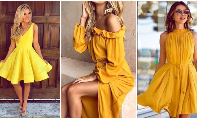 ¿Te atreves a usar un vestido amarillo este verano?