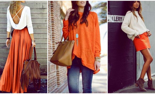 Las prendas más lindas en color naranja que van perfecto con tu look