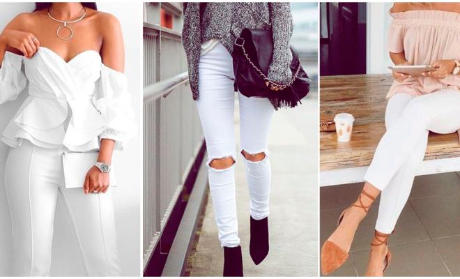Pantalones blancos para verte más curvilínea