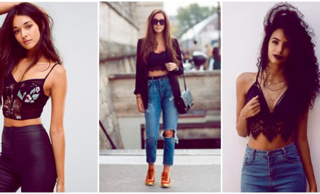 Outfits con bralettes para los días de calor