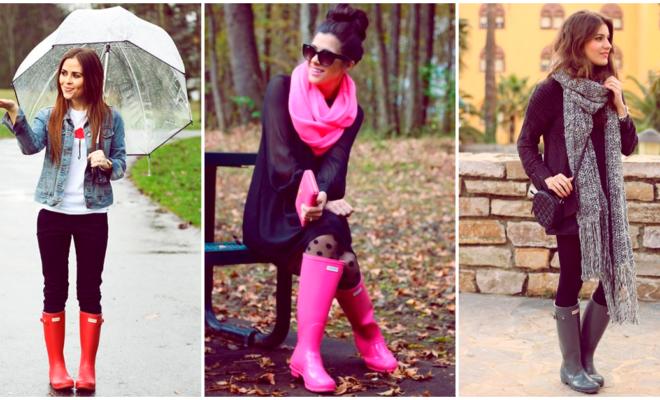 Hermosas botas para que la lluvia no te sorprenda