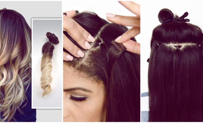 Cambia tu look usando extensiones con clip para lucir una melena más larga